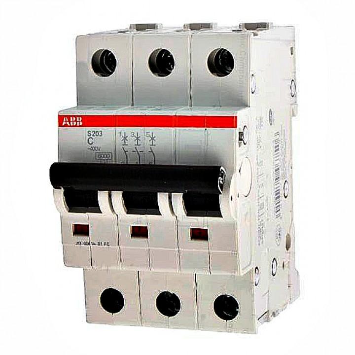 Aвтоматический выключатель ABB 3-полюсный S803 100 10кА