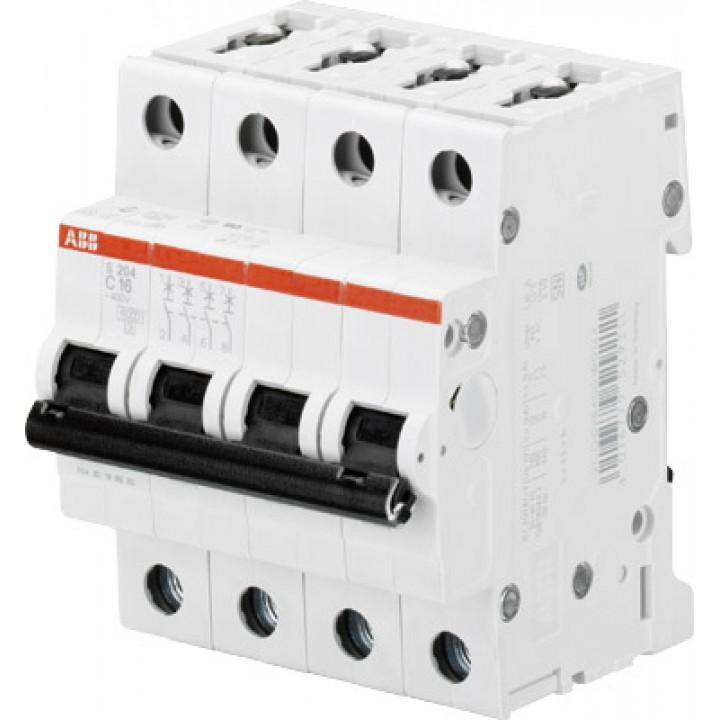 Aвтоматический выключатель ABB 4-полюсный S204 63А