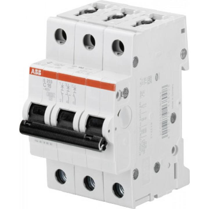 Автоматический выключатель ABB 3-полюсный S203 C50А